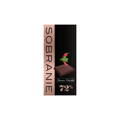 Шоколад Sobranie горький с кайенским перцем и мятой