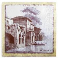 Салфетки Батист 3-х слойные 20шт Старый город, 33х33