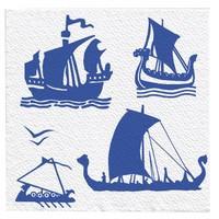Салфетки Семья и Комфорт Морские - Дельфины 50 листов 24х24см