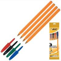 Ручка BIC Оранж, тонкая линия, асс, (пак. 4шт)