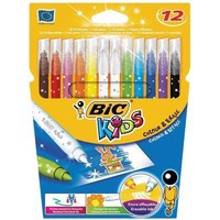 Фломастеры цветные BIC Magic Felt Pens 12 цветов