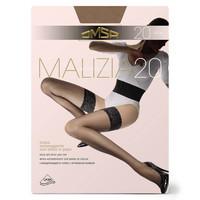 Чулки Omsa Malizia 20 den Nero 4 разм. (ажурная резинка на силиконе)