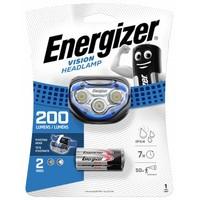 Фонарь Energizer Налобный Vision HEADLIGHT(HDA322) + 3AAA,2 светодиода, Дальн. 50м,7h,200 LUM