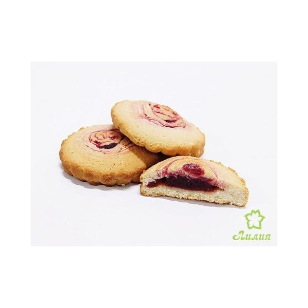 Печенье песочное Лилия Жерардо с вишневой начинкой