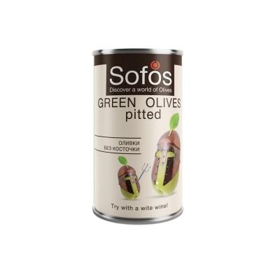 Оливки зеленые Sofos без косточки ж.б