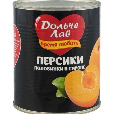 Персики Дольче Лав половинки в сиропе ж.б