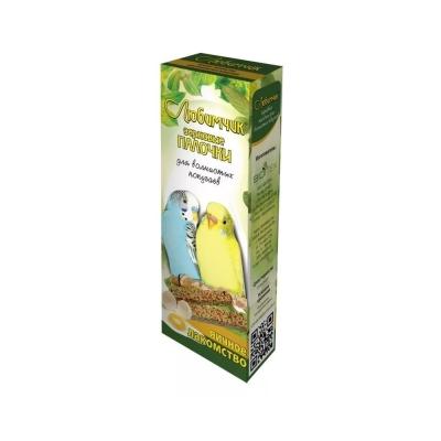 Лакомство Любимчик зерновая палочка для попугаев яйцо