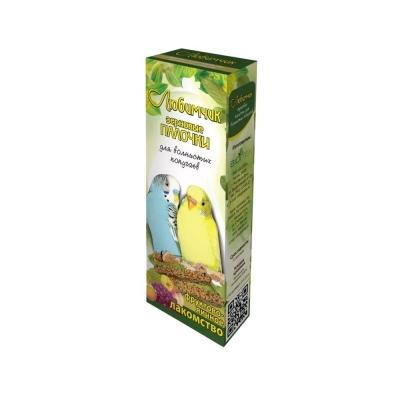 Лакомство Любимчик зерновая палочка для попугаев яйцо и фрукты