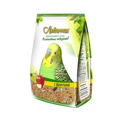 Корм Любимчик для волнистых попугаев с фруктами