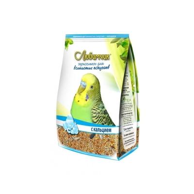 Корм Любимчик для волнистых попугаев с кальцием