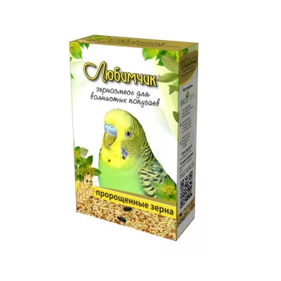 Корм Любимчик для волнистых попугаев пророщенные зерна