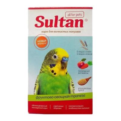 Корм Султан для волнистых попугаев фруктово-овощная трапеза
