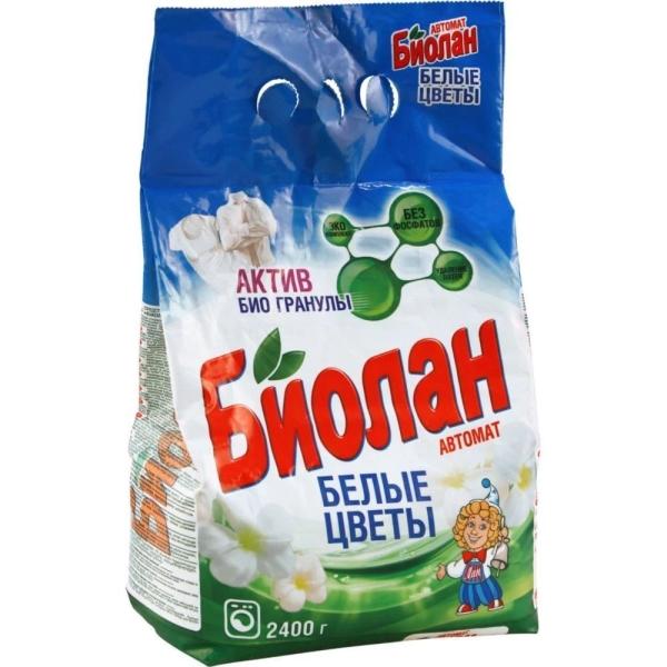 Стиральный порошок Биолан автомат Белые цветы