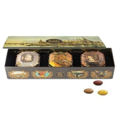 Подарочный набор трюфелей с цельным орехом ручной работы 'Baraka' Венеция ж/б (с подарочной сумкой)