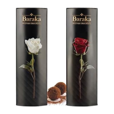 Трюфели ручной работы 'Baraka' Роза ж/б (с подарочной сумкой)