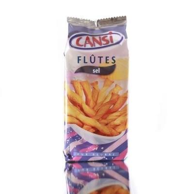 Палочки Cansi слоеные воздушные Flutes Sel с солью