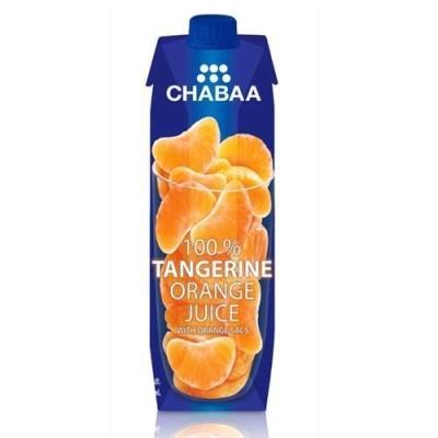 Сок CHABAA 100% Мандариновый тетра пак