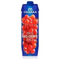Сок CHABAA 100% Красный виноград тетра пак