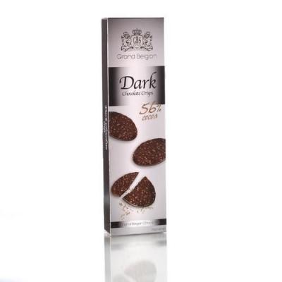 Шоколадные конфеты GBS Медальоны хрустящие из горького шоколада (какао 55%)