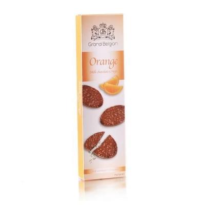Шоколадные конфеты GBS Медальоны хрустящие из молочного шоколада с ароматом апельсина