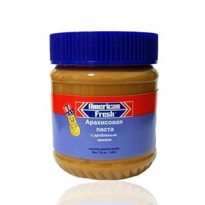 Паста арахисовая American Fresh CRUNCHY с дробленым орехом