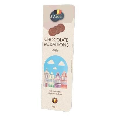 Медальоны хрустящие 'J'Ardel' из молочного шоколада с воздушным рисом