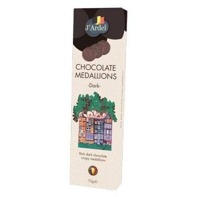 Медальоны хрустящие 'J'Ardel' из горького шоколада с воздушным рисом