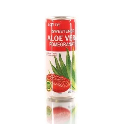 Напиток безалкогольный Lotte Алоэ Вера Гранат ж/б