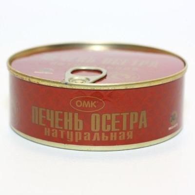 Печень осетра натуральная 'ОМК' (ж/б)