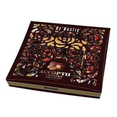 Конфеты шоколадные Династия Ассорти с орехами в темном шоколаде