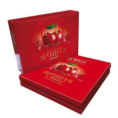 Конфеты шоколадные Династия Вишня в ликере в сумочке