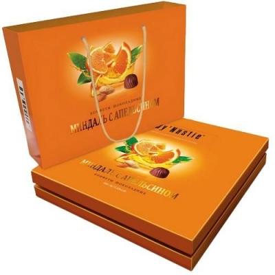 Конфеты шоколадные Династия Миндаль с апельсином в сумочке