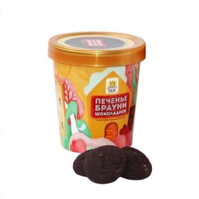 Печенье в стаканчике Sofi Брауни шоколадное с арахисом