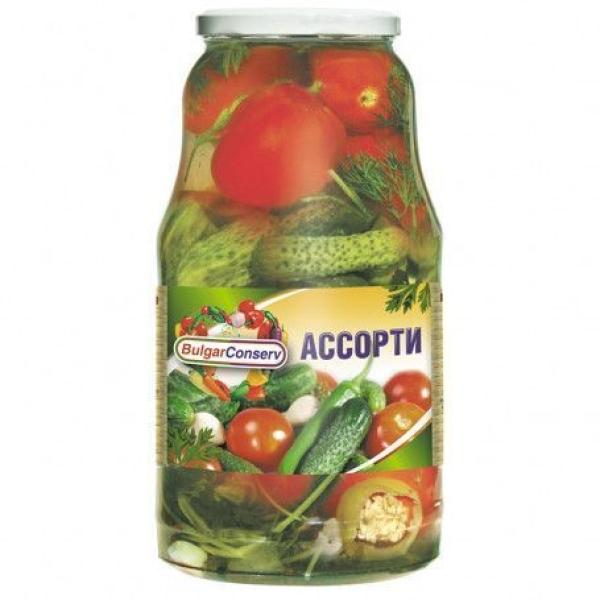 Ассорти (огурцы и томаты) Булгарконсерв, ГОСТ твист