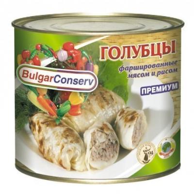 Голубцы Булгарконсерв фаршированные мясом и рисом, ГОСТ ж/б