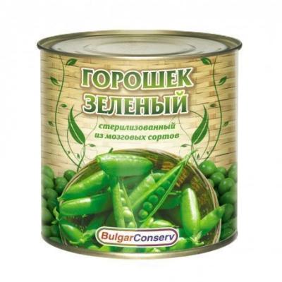 Горошек зеленый Булгарконсерв консервированный высший сорт, ГОСТ ж/б