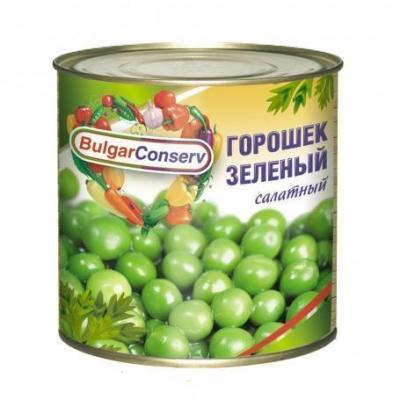 Горошек зеленый Булгарконсерв салатный, ТУ ж/б