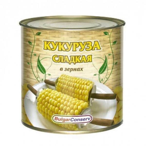 Кукуруза сладкая Булгарконсерв консервированная, ГОСТ