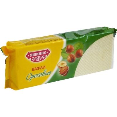 Вафли Яшкино ореховые