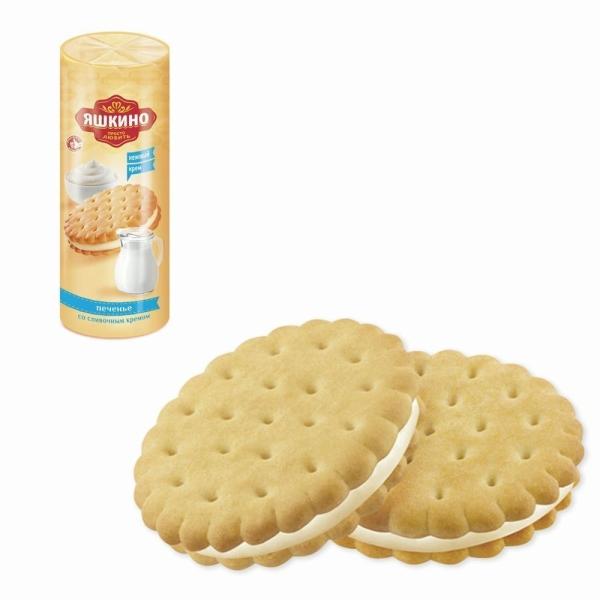 Печенье затяжное Яшкино Со сливочным кремом
