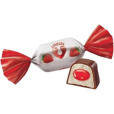 Конфеты Яшкино Ловеста со вкусом клубника со сливками
