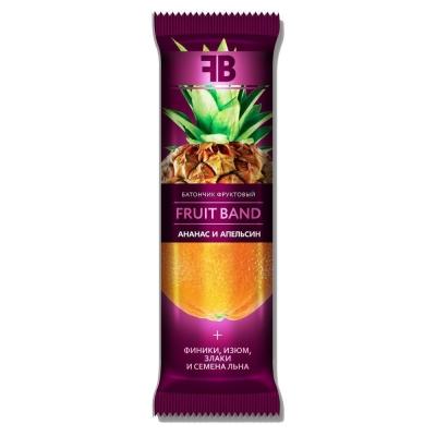 Батончик фруктовый FRUIT BAND с ананасом, апельсином, семенами льна