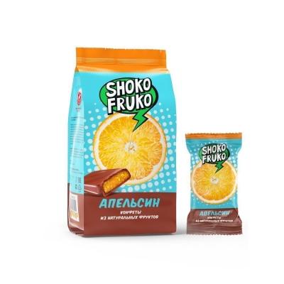 Конфеты SHOKO FRUKO глазированные Апельсин
