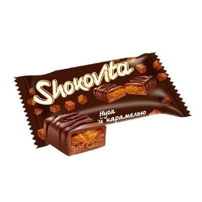 Конфеты глазированная нуга с мягкой карамелью и шоколадным ароматом САНТА НГ
