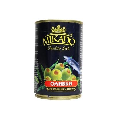 Оливки Mikado фаршированные анчоусом ж/б