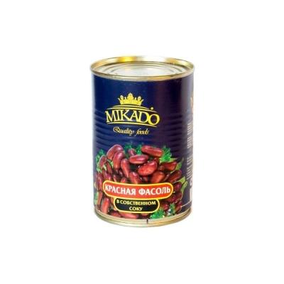 Фасоль красная Mikado в собственном соку ж/б