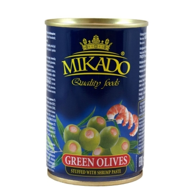 Оливки Mikado фаршированные креветками ж/б