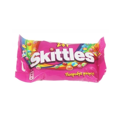 Конфеты жевательные Скитлс 2 в 1 (розовый)