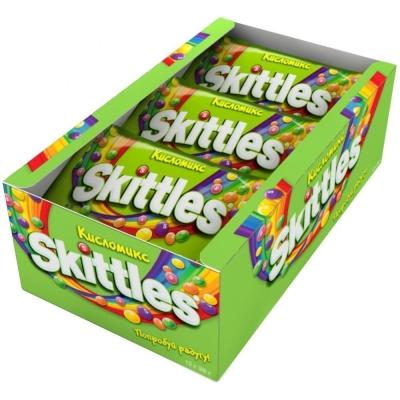 Конфеты жевательные Скитлс зеленый кислый
