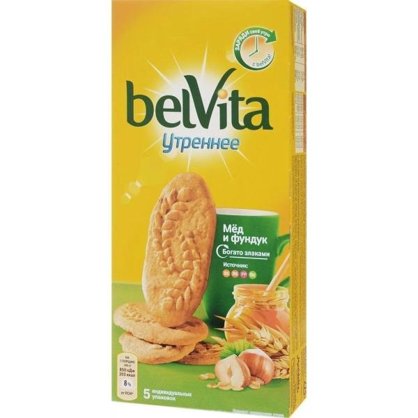 Печенье Юбилейное BelVita медовое с фундуком